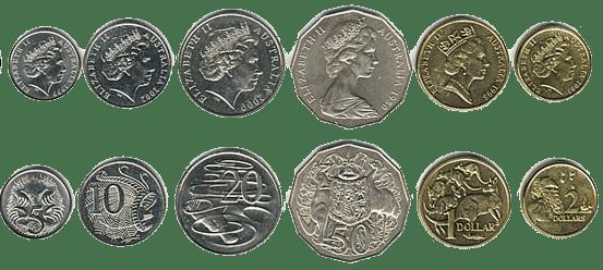 валюта Австралии - монеты