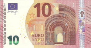 10 евро - лицевая сторона