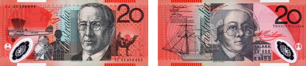 20 австралийских долларов