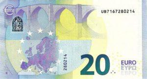 20 евро - оборотная сторона