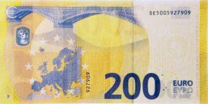 200 евро - оборотная сторона