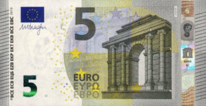 5 евро - лицевая сторона