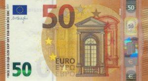 50 евро - лицевая сторона