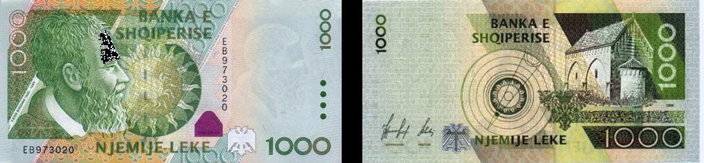 валюта Албании - 1000 леков