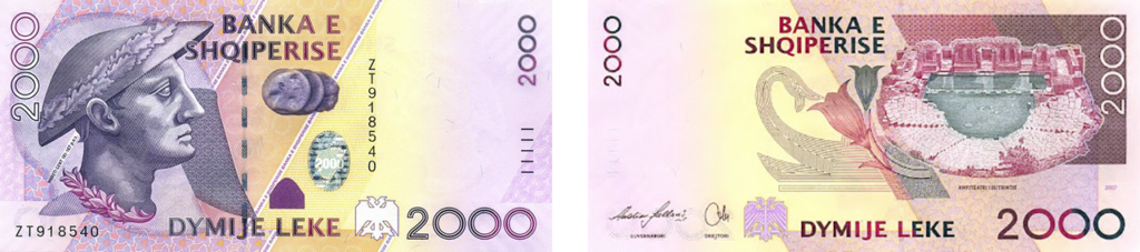 валюта Албании - 2000 леков