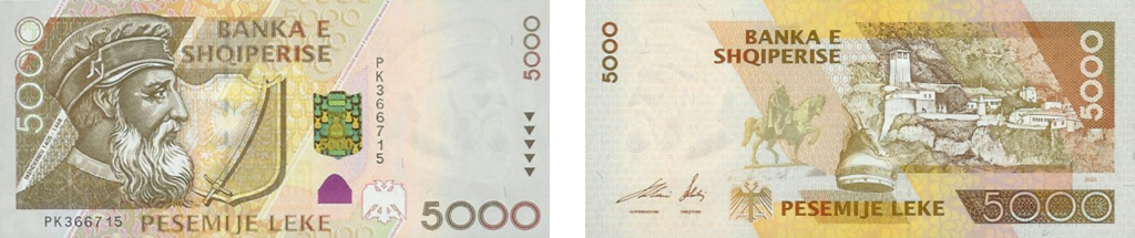 валюта Албании - 5000 леков