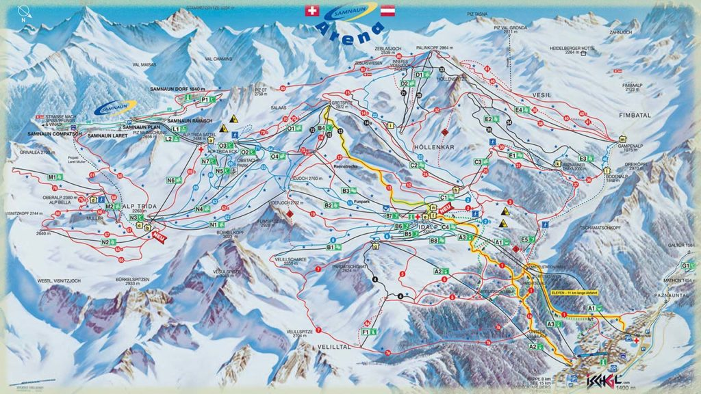 Характеристики горнолыжного курорта Ишгль