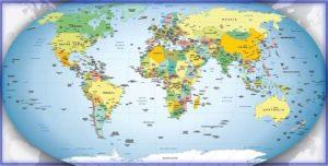 страна на карте мира