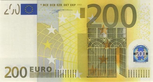 200 евро - лицевая сторона
